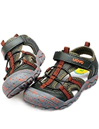 92b05aafcb65 UOVO Boys Sandals Kids Sandals Trekking Hiking Sandals Closed Toe Athletic  Summer Shoes for…