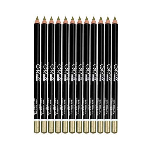 1 Satz schwärzeste Schwarz-Bleistift-Liner Natürliche Matte Langlebige hypoallergen Unter Eyeliners Augenbrauenstift Kajalschminke Make-up weiche Crayon Bleistifte