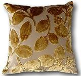 Tache 1Stück 45,7x 45,7cm quadratisch Floral samtig Golden Boughs Of Holly Kissenbezug Werfen Kissen Fall