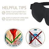 Plemo Schlafmaske Ultraweiche Augenmaske Schlafbrille mit Verstellbarem Gummiband für die Schlafenszeit und Reisen, Einheitsgröße in Schwarz - 6