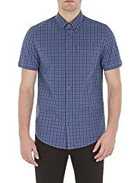 Ben Sherman Short Sleeve Mid Scale House Gingham Shirt - MA13604 Regular Fit (MOD Fit)