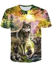Roiper  Homme Vetements Hommes 3D Pattern imprimé T-Shirts Chemise à Manches  Courtes à Manches 4ab52677fa56