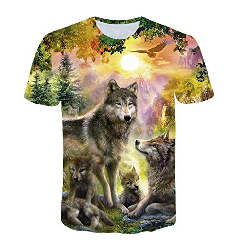 55192624216ea Wolf shirt wolf costume tees the best Amazon price in SaveMoney.es