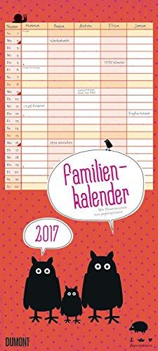 Viechereien Familienkalender 2017: Familienplaner 5 Spalten