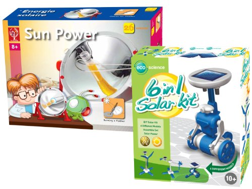 EDU Toys 6in1 Solar Modelle und Solar Experimente Set