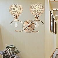 Doppio cristallo personalità lampada lampada da comodino parete perno