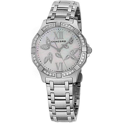 Concord Reloj de mujer cuarzo suizo 31mm correa y caja de acero 0320305