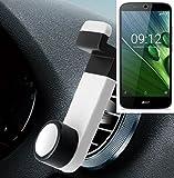 Smartphone Halterung Autohalterung Lüftungshalterung für ACER Liquid Zest Plus, Weiß | Handy Halter Lüftungsgitter Smart
