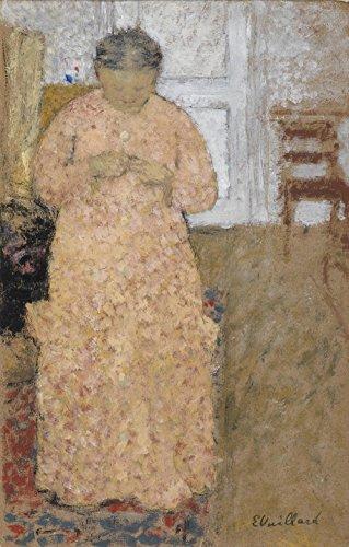 Das Museum Outlet–Edouard Vuillard–Frau Stricken in rosa Kleid–Leinwanddruck Online kaufen (61x 81,3cm)