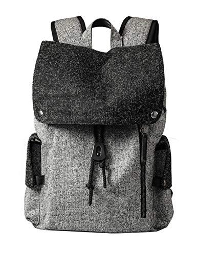 Schultaschen | Leichte Laptop-Rucksack mit USB-Ladeanschluss, Schüler Rucksäcke Für Teens Girls Boys (Farbe : Grau)