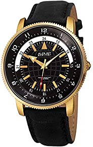 August Steiner Men's Quartz Watch, Analog Display And Leather S