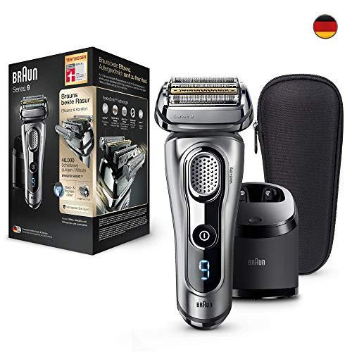 Braun Series 9 9292cc elektrischer Rasierer, mit Reinigungs- und Ladestation und Reise-Etui, silber