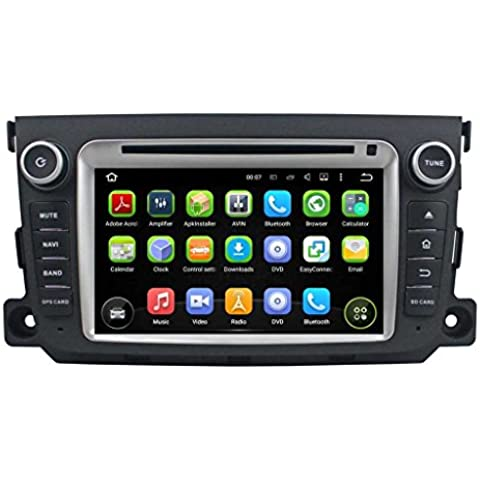 7 pulgadas Coche Estéreo con GPS Navegación Android 5.1.1 Lollipop OS para Benz Smart 2011 2012 2013,DAB+ radio Pantalla Táctil Capacitiva con 1.6G de la Cortex A9 Quad Core CPU 16G y 1G DDR3 RAM Flash 1024x600 Radio DVD 3G/WIFI OBD2 Aux Entrada USB/SD