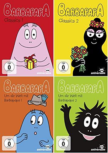 Preisvergleich Produktbild Barbapapa DVD Set,  4 Dvds,  Classics 1+2 & Um die Welt mit Barbapapa 1-2,  I II,  deutsch
