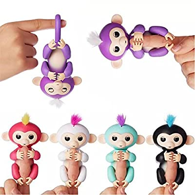 Finger Monkey Interactive Baby Pet Monkey Toy Assorted Any Colour Finger Toys Puppets