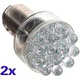 TOOGOO(R) 2x 1157 BAY15D P21 / 5W 380 12 traseras LED rojo del coche del freno de parada Gire bulbos de lampara ligeros