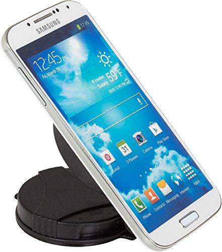 getpower Universal Glas Oberfläche Halterung Lösung für kleine Elektronik, Handys, GPS-Geräte, Smartphones und MP3-Player–Retail Verpackung–Schwarz