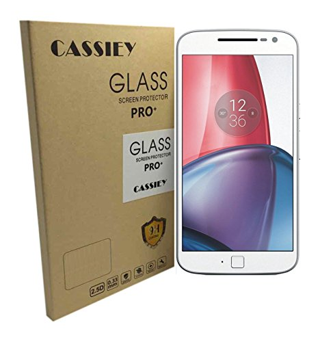 Cassiey Amazing Pro+ 0.3 Mm 2.5D 9H Hardness Anti-Explosion Tempered Glass Phone Screen Protector For Moto G + Plus 4Th Gen (G4) Transparent
