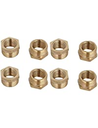 Tradico® 3/8BSP Male X 1/4BSP Female Thread Brass Hex Bushing Pipe Fitting 8pcs