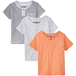 Day 2 Day Baby Girls' T-Shirt (263962076_Multi colored_03M)(Pack of 3)