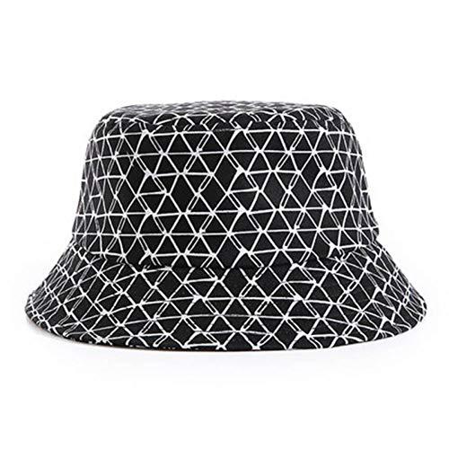 HSLPLX Baumwolle gestreiften Gitter Eimer Hut Fischer Hut Outdoor reisehut sonnenkappe hüte für männer und Frauen (Eimer Hut Gestreiften Baumwolle)