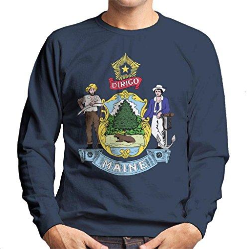 Coto7 Maine State Flag Men's Sweatshirt