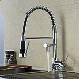 Gyps Faucet Waschtisch-Einhebelmischer Waschtischarmatur BadarmaturDie Küche Ziehen Sie die ausziehbare Antenne Waschbecken Waschbecken Wasserhahn Kupfer Feder B zu Drehen,Mischbatterie Waschbecken