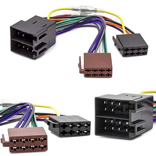 Auto Radio Adapter Kabel ISO Stecker Buchse Remote für Opel Astra F G Corsa B C -