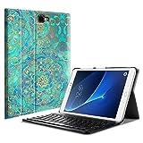 Fintie Bluetooth Tastatur Hülle für Samsung Galaxy Tab A 10,1 Zoll T580N / T585N Tablet - Ultradünn leicht Schutzhülle mit magnetisch Abnehmbarer Drahtloser Deutscher Bluetooth Tastatur, Jade
