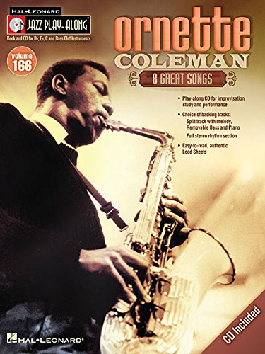 Jazz Play-Along Ornette Coleman All Inst: Volume 166