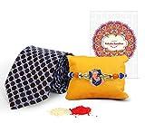 #9: TIED RIBBONS Rakshabandhan gifts for brother with rakhi Handmade Rakhi with NeckTie and Roli Chawal-rakhi gift for boys