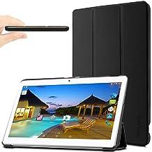 "YunTab 3G Tablet 10.1 inch/ACEPAD A101 (10.1"") TABLET PC Funda Case, Infiland Ultra Delgada Tri-Fold Case Cover PU Cuero Cascara con Soporte para Android 10,1 inch tablet YUNTAB 3G Tablet 10.1 inch 3g Tablet Pc /XIDO Z120/3G, Tablet Pc 10 inch/Artizlee 10 inch (10.1"") Tablet PC ATL-21L 1280x800/ibowin P130 10.1 inch Allwinner A33/ACEPAD A101 (10.1"")(More compatiable models in description),Negro"