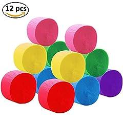 Idea Regalo - Decorazioni per Appendere Decorazioni per Artigianato di Carta Crepe per Vari Party di Festa di Compleanno Party Decorazioni Party 6 Colori (12 rotoli)