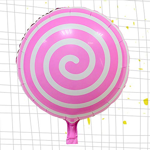Caramelo Dulce de 18 Pulgadas Globos,Redonda Lollipop Globos Aluminio Globos de Fiesta para Boda cumpleaños Suministros de Fiesta Festival de año Nuevo(1 pc)-B