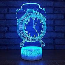 ... reloj del real madrid para niños. Despertador 3D Usb Lámpara Led 7 Cambio de color Ilusión Visual 3D Luz de noche para