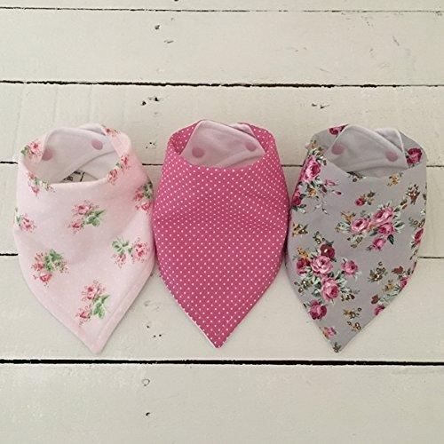 pretty-floral-and-spot-bandana-dribble-bib-bundle