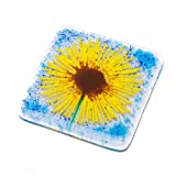 Best Gifts & Decor Glass Desks - Sunflower fused glass art hand-made coaster Review