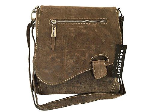 J3423 Schultertasche Used Look Handtasche Umhängetasche Shopper Tasche Bag Street verschiedene Farben --präsentiert von RabamtaGO®-- (Riegel Wildleder Optik)