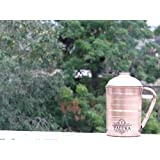 """[Sponsored]Taluka ( 4.2"""" X 8.8"""" Inches Approx ) Pure Hand Made Best Quality Copper Jug For Water Drinking 100% Pure Copper Jug Pitcher Capacity 2000 Ml Water Storage Serving Drinking Water   Home Hotel Restaurant Tableware Drinkware (2 Liter) (H"""