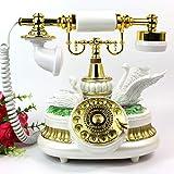 ZfgG Europäische Plattenspieler Antik Retro Telefon Vintage Antik Festnetz (Farbe : Weiß)