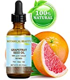 Botanical Beauty GRAPEFRUIT SEED OIL. 100% Pure / Natural / Undiluted /Refined Cold Pressed Carrier Oil. 0.5 Fl.oz.- 15 ml. For Skin, Hair And Lip Care. 'One Of The Richest Natural Sources Of Vitamin A ,C & E And Natural Fruit Enzymes.'