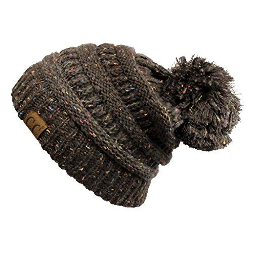 af1b1a70b9f Hatsandscarf CC Exclusives Unisex Ombre Ribbed Confetti Knit Beanie with  POM (YJ-817POM)