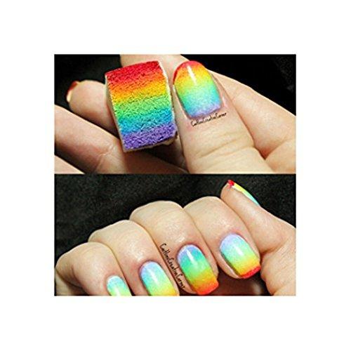 Susenstone 12PCs Eponges pour Nail Art Manucure de Transfert Modèle Polonais Emboutissage Outil Bricolage