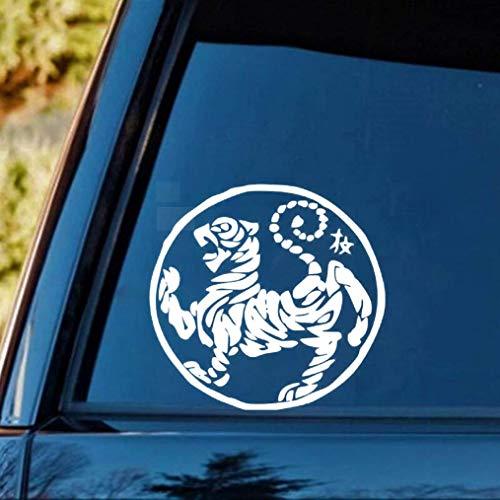 auto aufkleber 18X18 Cm Shotokan Tiger Karate Do Logo Aufkleber Auto Aufkleber Schwarz Silber Auto Aufkleber Für Auto Laptop Fenster Aufkleber