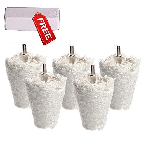 Preisvergleich Produktbild 5tlg Goblet Polier Mop Polieren Mop Kit Schwabbelscheibe konische und zylindrische und Pilz Verbindung