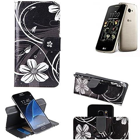 LG K5 Housse Portefeuille Étui Clapet Folio Livre Rabat Protection Bookstyle wallet case 360° Protection innovante de la caméra - K-S-Trade