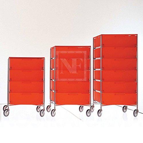Kartell 2040L8 Container Mobil, 6 Schubladen, fumÃÂ