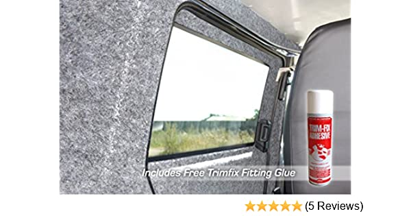 9m x 2m Includes 9 x Trimfix Glue Choose from 30 Sizes of Silver Coloured Super Stretch Van Lining Carpet