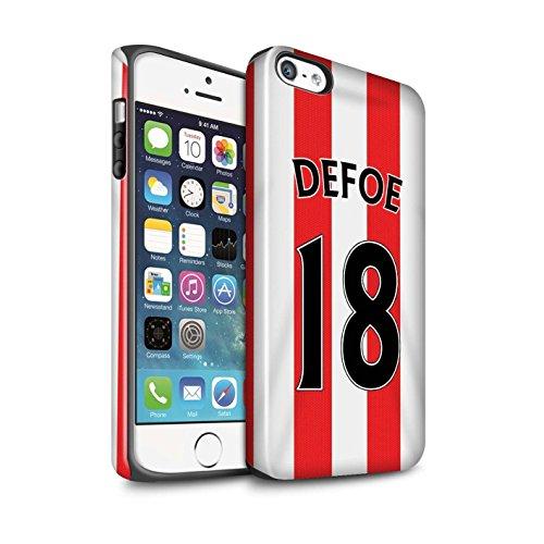 Offiziell Sunderland AFC Hülle / Glanz Harten Stoßfest Case für Apple iPhone 5/5S / Pack 24pcs Muster / SAFC Trikot Home 15/16 Kollektion Defoe