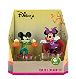 Bullyland 15082 - Spielfigurenset, Walt Disney Mickey Halloween - Mickey und Minnie im Halloweenkostüm